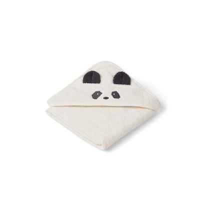 Liewood Albert panda hooded Towel, handduk med huva för nyfödda