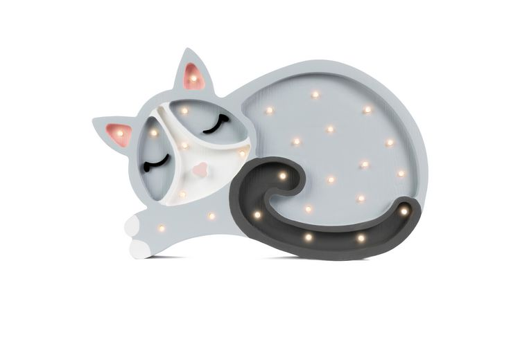 Nattlampa till barnrummet Lampa katt lampa, Little Lights
