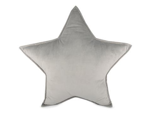 FORM Living, sammetskudde grå stjärna till barnrummet