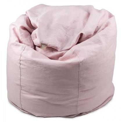 NG Baby, sittsäck i linne, rose , mood