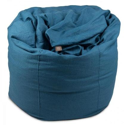 NG Baby, sittsäck i linne, blue, mood