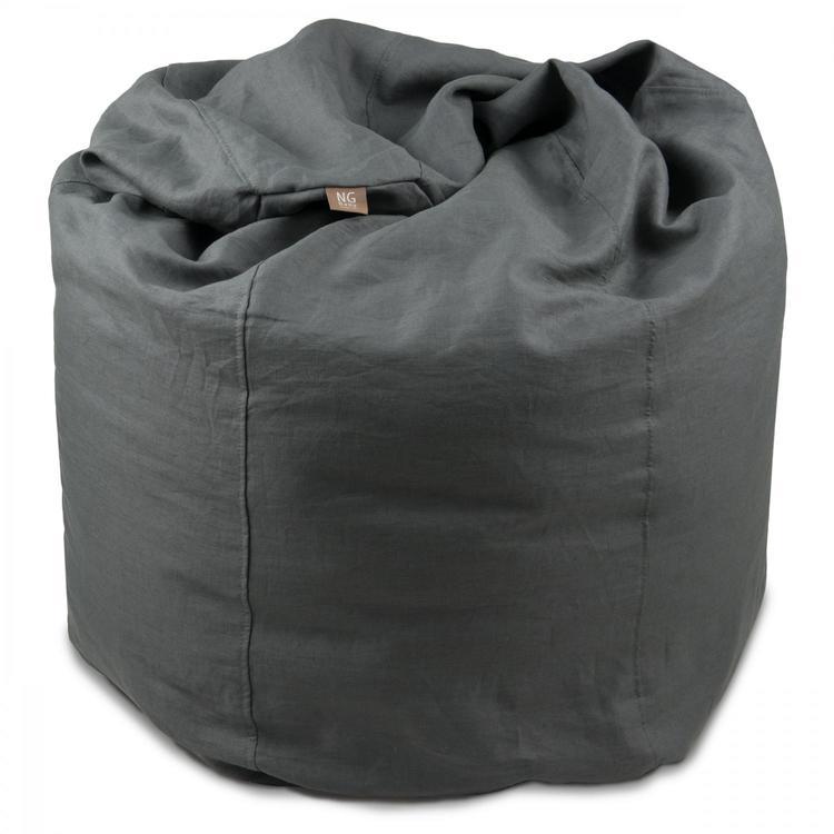 NG Baby, sittsäck i linne, graphite grey, mood