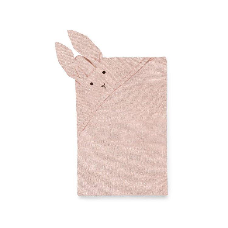 Liewood stickad filt,  Willie rabbit rose