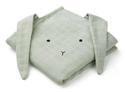 Liewood snuttefilt Hannah Rabbit Dusty mint - 2 pack
