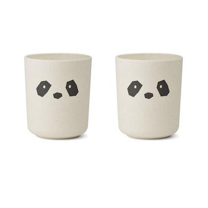 Liewood, Bente mugg - 2 pack, panda creme de la creme