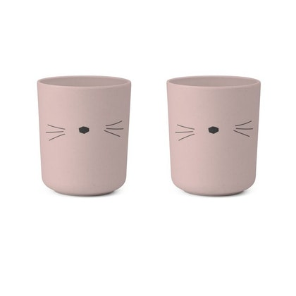 Liewood, Bente mugg - 2 pack, cat rose