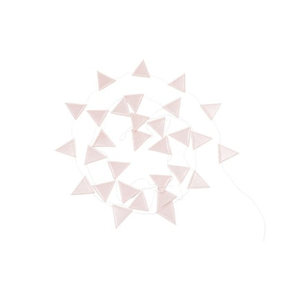Cotton & Sweets, vimpel 3,3 m, tiny triangle pink
