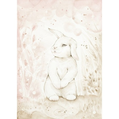 Cotton & Sweets, poster lovely rabbit 18x24 cm