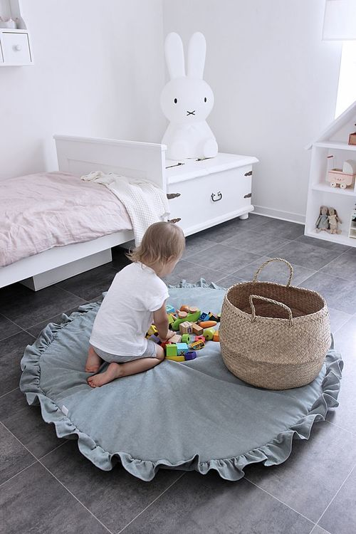 Mint lekmatta DeLuxe med volang, Cotton & Sweets