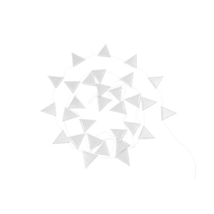 Cotton & Sweets, vimpel 3,3 m, tiny triangle silver