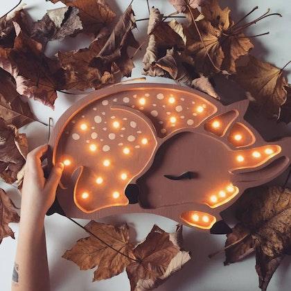 Nattlampa till barnrummet Lampa rådjur lampa, Little Lights
