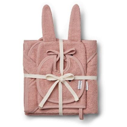 Liewood, adele terry baby set , gåvoset , rabbit rose