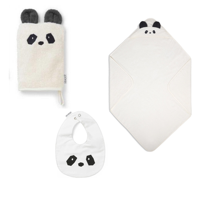 Liewood, adele terry baby set , gåvoset , panda