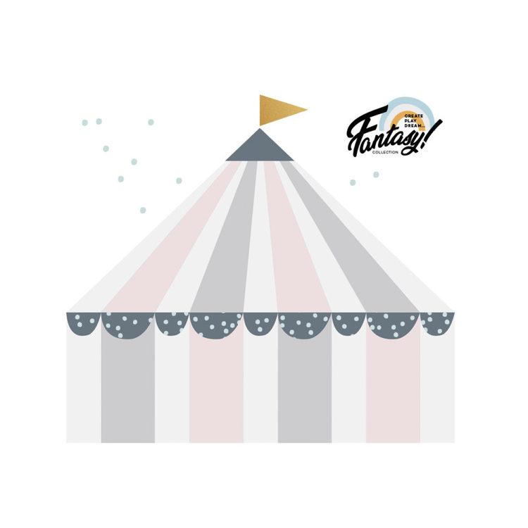 Väggklistermärken Cirkus pastel
