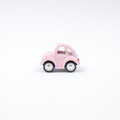 Leksaksbil Volkswagen pastell beetle mini rosa
