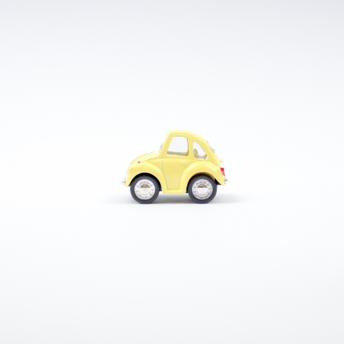 Leksaksbil Volkswagen pastell beetle mini gul