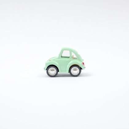 Leksaksbil Volkswagen pastell beetle mini mint