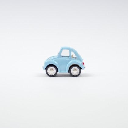 Leksaksbil volksvagen pastell beetle mini blå