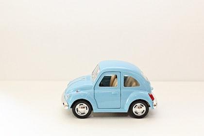 Leksaksbil volksvagen pastell beetle blå