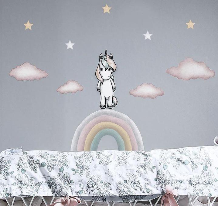 Stickstay, Joy`s regnbåge, väggklistermärken