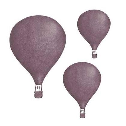 Lila Luftballonger väggklistermärken, Stickstay