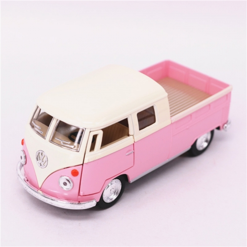 Leksaksbil stor Volkswagen pastell bus cab pickup rosa