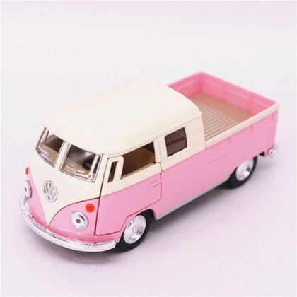 Leksaksbil volksvagen pastell bus cab pickup rosa