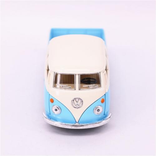 Leksaksbil stor Volkswagen pastell buss cab pickup blå