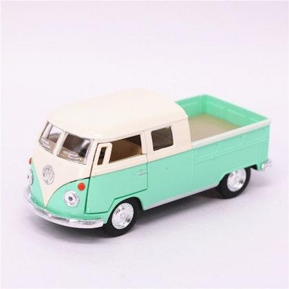 Leksaksbil stor Volkswagen pastell buss cab pickup mint