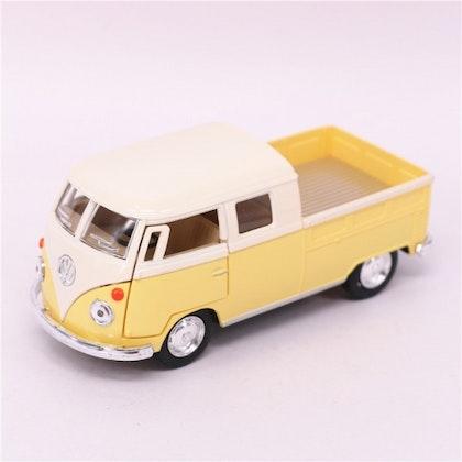 Leksaksbil stor Volkswagen pastell buss cab pickup gul