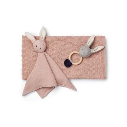Liewood, rosa gåvoset (filt, leksak, snuttefilt)