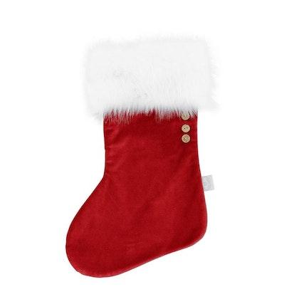 Cotton & Sweets , röd julstrumpa