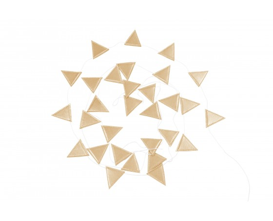 Cotton & Sweets, vimpel 3,3 m, tiny triangle guld