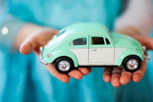 Leksaksbil stor Volkswagen pastell classic mint