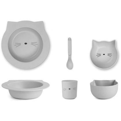 Liewood, matset Barbara i bamboo, Grå katt