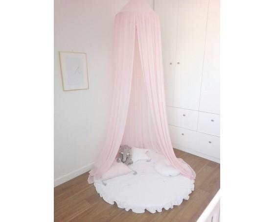 Sänghimmel candy pink till barnrummet med ljusslinga, Cotton & Sweets