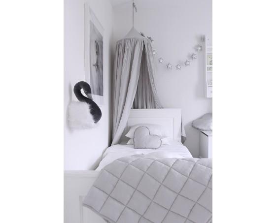 Ljusgrå sänghimmel i bomull till barnrummet  , Cotton & Sweets