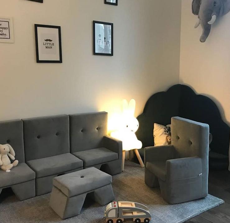 Misioo, grå möbelset till barnrummet
