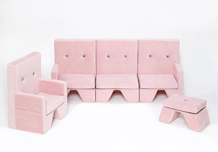 Misioo, rosa möbelset till barnrummet
