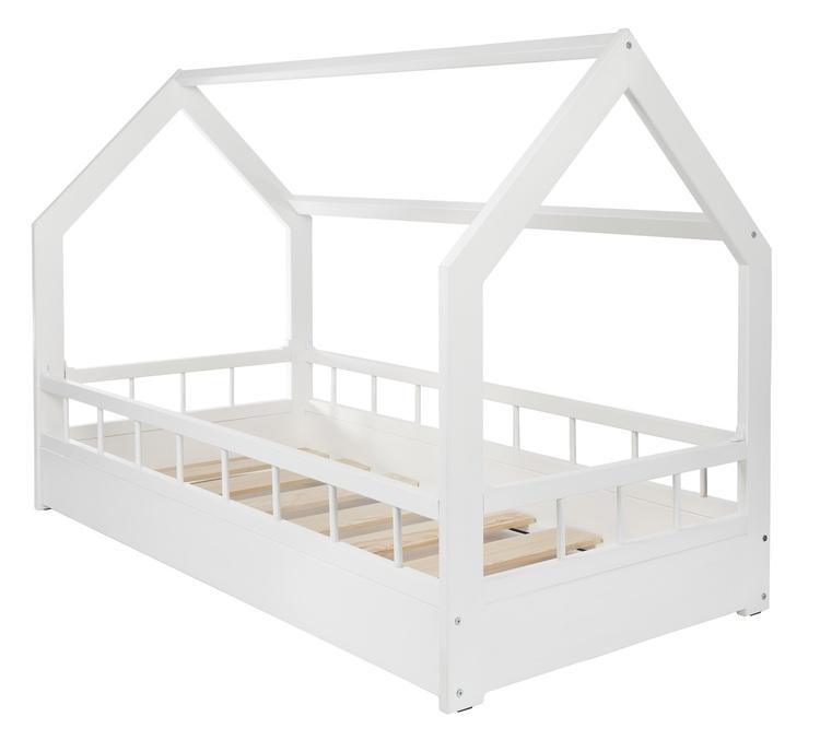 Vit hussäng med skydd 80x160 till barnrummet vit hussäng med skydd