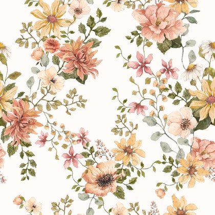 Tapet Angel Garden, blommig tapet