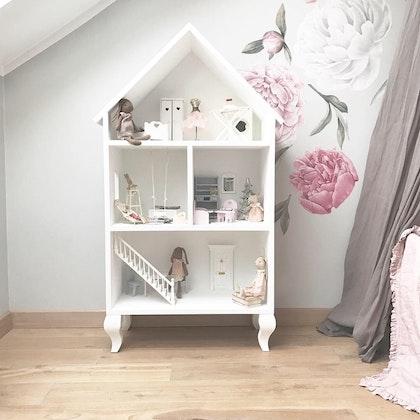 Lily, stor vit dockhus i trä