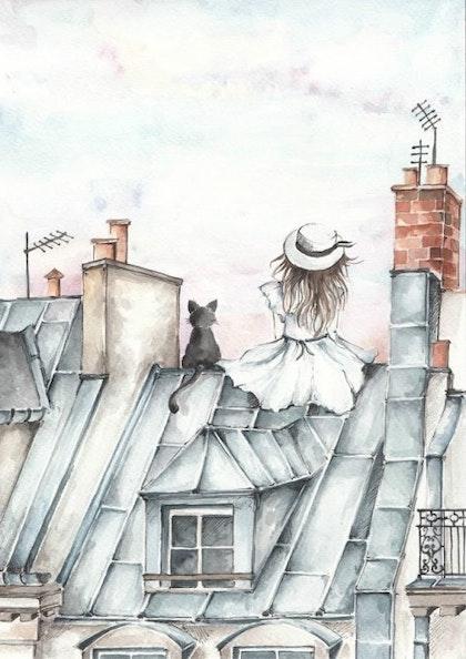Poster flickan på taket, poster till barnrummet