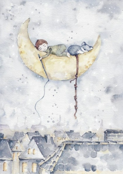 Poster en magisk pojke , poster till barnrummet