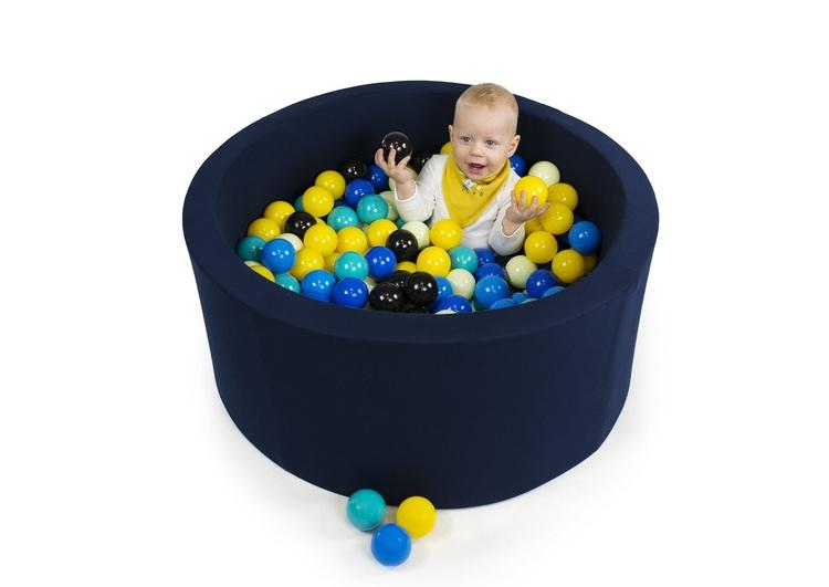 Mörkblå bollhav med 200 plastbollar - Misioo