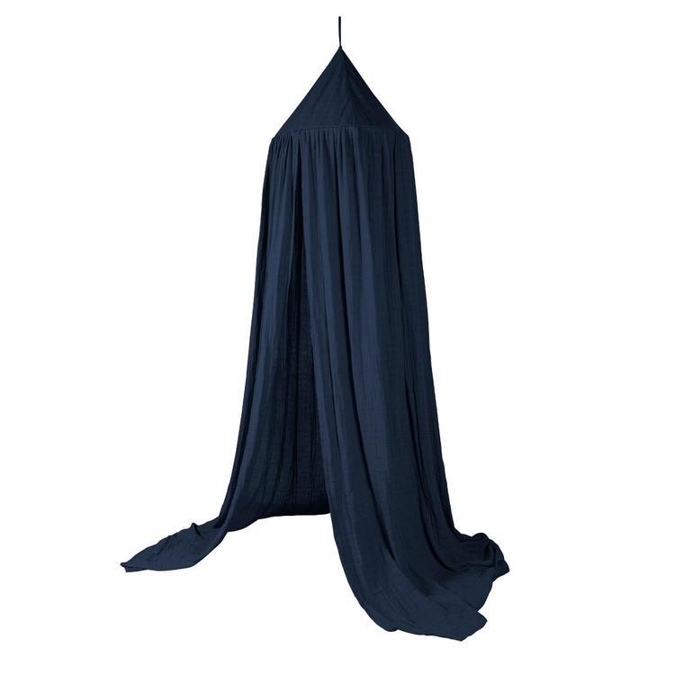 Sebra sänghimmel royal blue med ljusslinga