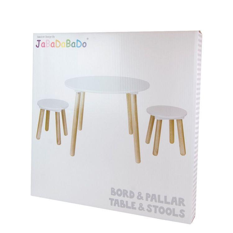 Möbelset bord med två pallar, Jabadabado