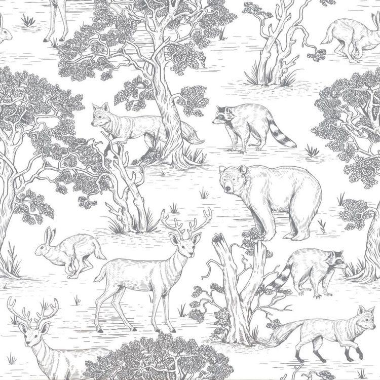Tapet white animals, Dekornik
