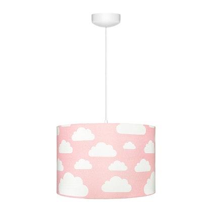 Rosa taklampa till banrummet , moln