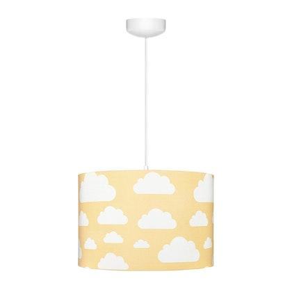 Senapsgul taklampa till banrummet , moln
